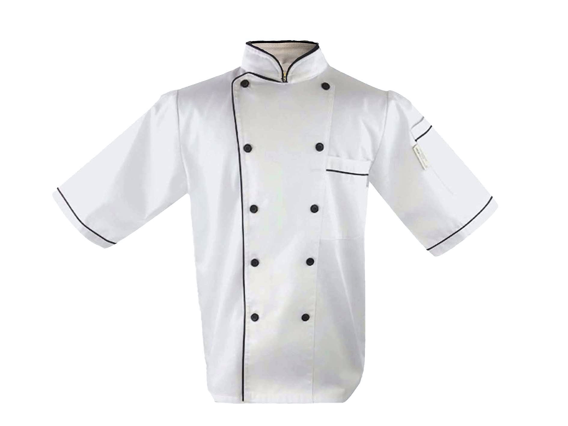 Uniform Chef Coat Unisex Short Sleeve Catering Jackets style  or chef tie (019)